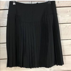 BCBGMAXAZRIA black pleated skirt